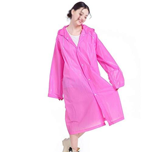 Adulte Mode Poncho Dame Air Casual L'eau De Plein Vélo Capuche Trench Imperméable À coat Voyage Pink En S7BdSq