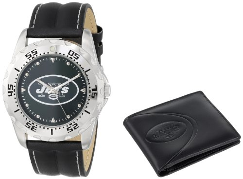 """Game Time Men's NFL-WWS-NYJ """"Watch & Wallet"""" Watch - New York Jets"""