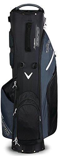 Callaway 2018 Fusion Zero Stand Bag Black/Titanium/White (Callaway 2017 Hyper Lite Zero Stand Bag)