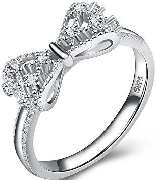 記念日のリング、925スターリングシルバーロジウムメッキジュエリーリングティーン女の子と女性、結婚式のバンドリング、クリスクロス