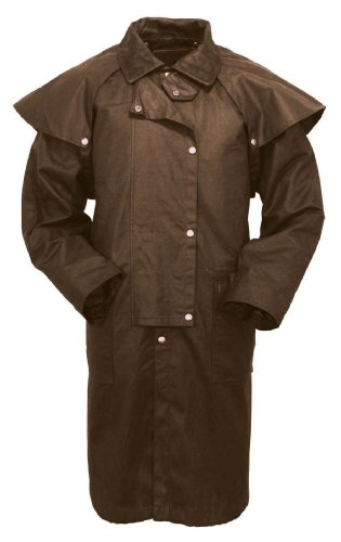 Outback Trading Waterproof Oilskin Low Rider Duster, Brown, XL (Lowrider Outback)