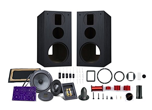 HiVi – DIY 3.1A – 3.1 Bookshelf Speakers – Near-Field Speakers – DIY Speaker Kit – Pair – Black