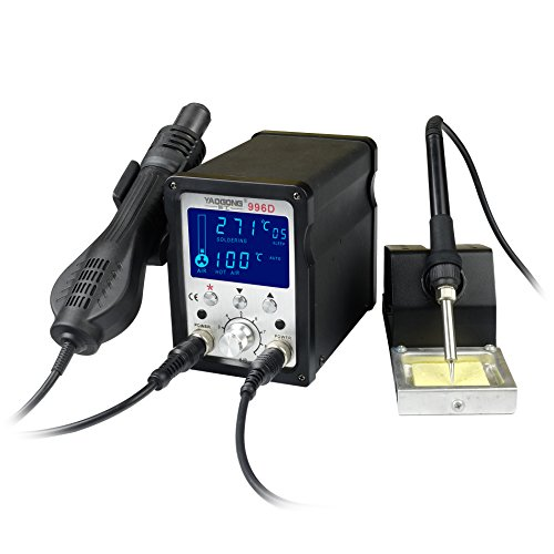 YAOGONG 996D# Hot Air Brushless 2 in 1 ESD Safe LCD Automatic Digital Soldering SMD solder Rework Station by YAOGONG (Image #1)