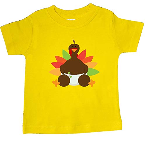 inktastic - Thanksgiving Baby Turkey Baby T-Shirt 24 Months Yellow 32659