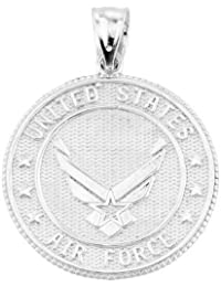 US Air Force Sterling Silver With Prayer Blessing Pendant