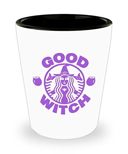 Shot Glass Good Witches Funny Halloween costume Gift Glass shot]()