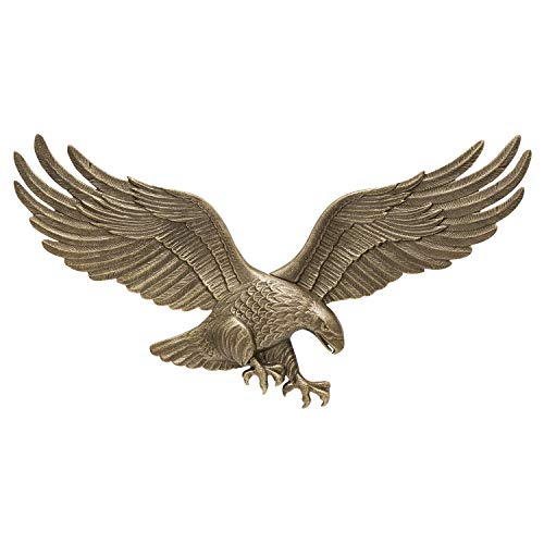 Whitehall Products Decorative Wall Eagle, 29-Inch, Antique Brass