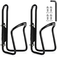USHAKE Water Bottle Cages, Basic MTB Bike Bicycle Alloy Aluminum Lightweight Water Bottle Holder Cages Bracket