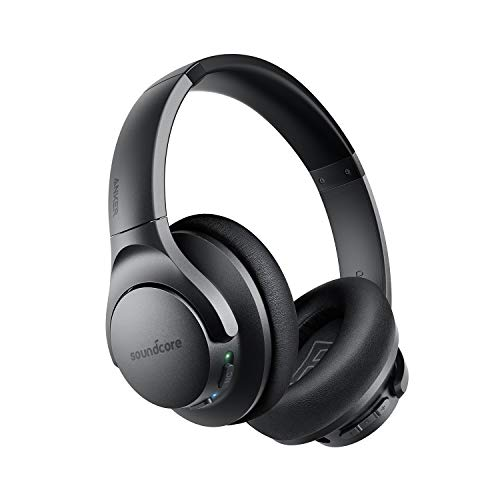 Anker Soundcore Life Q20 Bluetooth Headphones, Hybrid Active Noise Canceling, 30H Playtime, Hi-Res Audio, Deep Bass, Memory Foam Ear Cups and Headband, Wireless Over Ear Headphones for Travel, Work