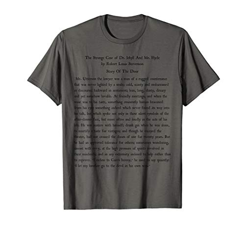 Dr. Jekyll And Mr. Hyde Book Reader Vintage Text Gift Shirt (Jekyll And Hyde Bring On The Men Karaoke)