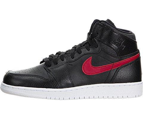 Jordan Nike Kid's Air 1 Retro High Bg Black/Gym Red/Black/White Basketball Shoe 5.5 by Jordan
