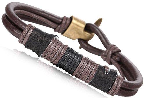 FIBO STEEL Leather Bracelet Vintage