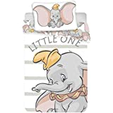 Juego de ropa de cama para bebés Dumbo, 2 piezas 100% algodón, tamaño: 100 x 135 cm, 40 x 60 cm, certificado Öko Tex…