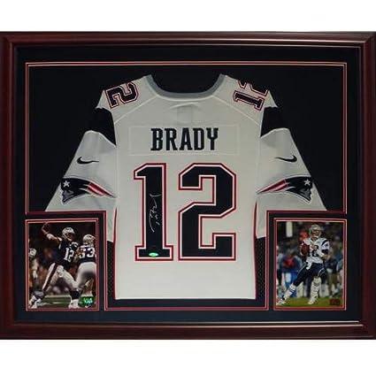 best cheap 066a0 1e192 Tom Brady Autographed Signed Auto New England Patriots White ...