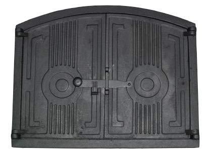 Puerta de hierro fundido para horno de 48 cm x 38, 5 cm: Amazon.es ...