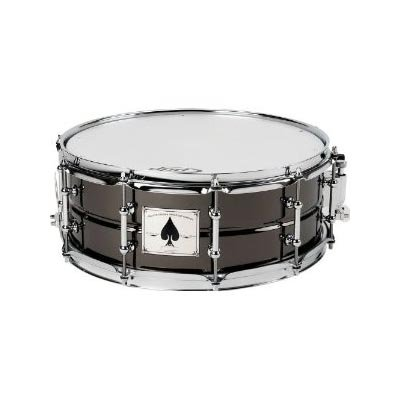 Pacific Drums by DW The Ace: 5X14 Black Chrome Over Beaded Brass Shell with Tube Lugs