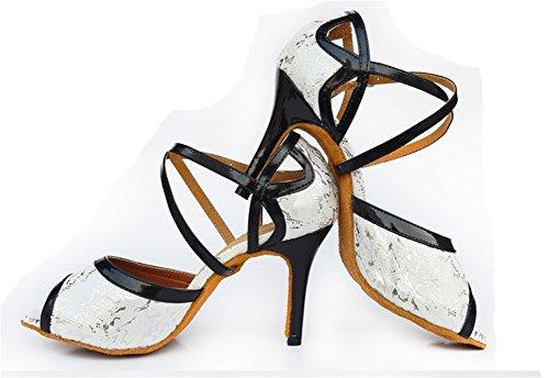 XW carrée latine de Chaussures talons danse adultes chaussures 33 chaussures danse semelles souples de à WX à 40 de Silver hauts danse chaussures femmes rIPOPxq