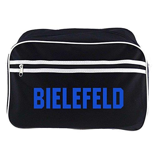 Retrotasche Schriftzug Bielefeld schwarz