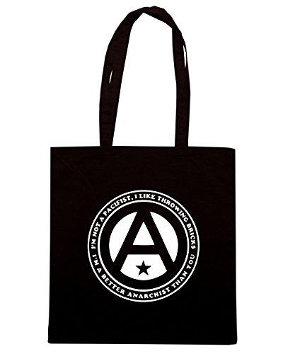 T-Shirtshock - Bolsa para la compra TCO0020 anarchy Negro