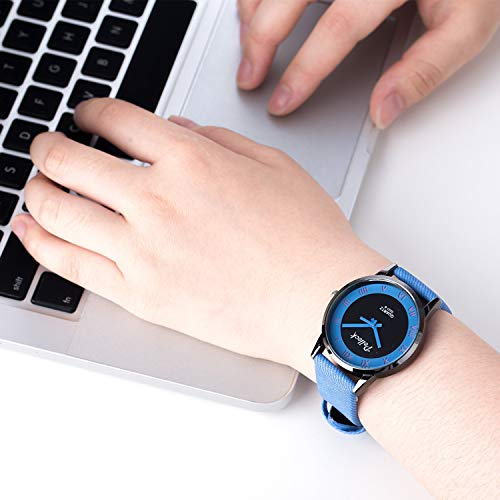 Elegant Personality Mixed Colors Girlfriend Jelly Quartz Watch Women Girls Students (Blue