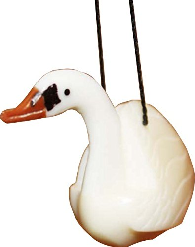 - Handmade Tagua Nut Ornament Collectible - Swan