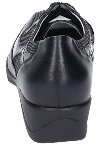 Waldl?ufer Damen Schnuerschuhe, schwarz, 950510-1 Schwarz