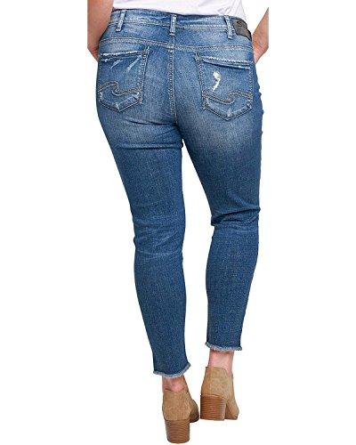 Silver Jeans Co. Plus Size calley Uneven Hem Ankle Jeans 18 - Fashion Calley