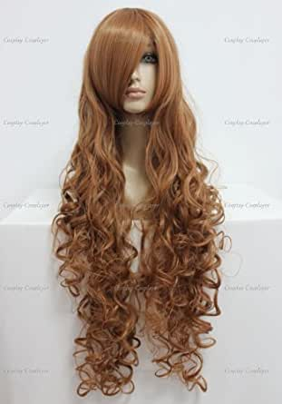CosplayerWorld Cosplay Wigs Hetalia Hungary Wig For Convention Party Show Brown90cm 360g WIG-207C01