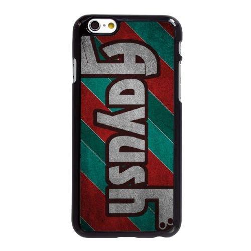 E1V56 typographie de style rétro Y8U8FP coque iPhone 6 Plus de 5,5 pouces cas de couverture de téléphone portable coque noire SD8SNO6DN