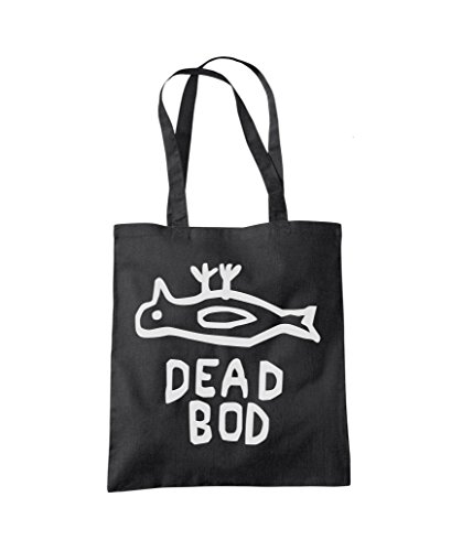 Bag Dead Bod Black Tote Shopper Fashion UwUqZf18