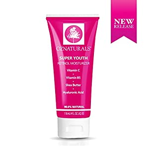 OZNaturals Pure Retinol Cream – Anti Wrinkle Anti Aging Retinol Night Cream Face Moisturizer With Retinol + Hyaluronic Acid. Experience The Most Effective Natural Skin Care. 4 fl.oz
