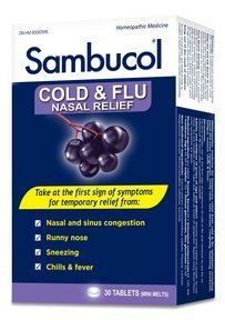 Sambucol Black Elderberry Cold & Flu Nasal Relief (Flu Relief Berry)