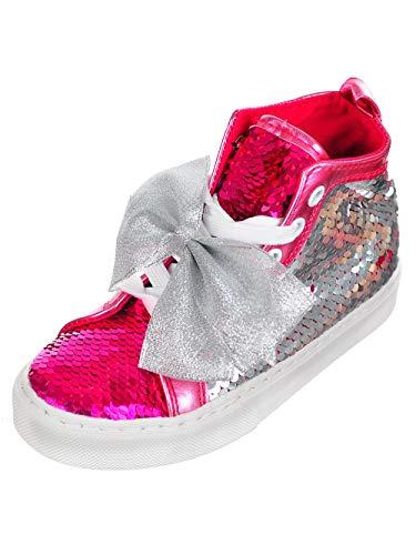 Jojo Siwa Girls' Hi-Top Sneakers - Pink/Silver, 1 ()