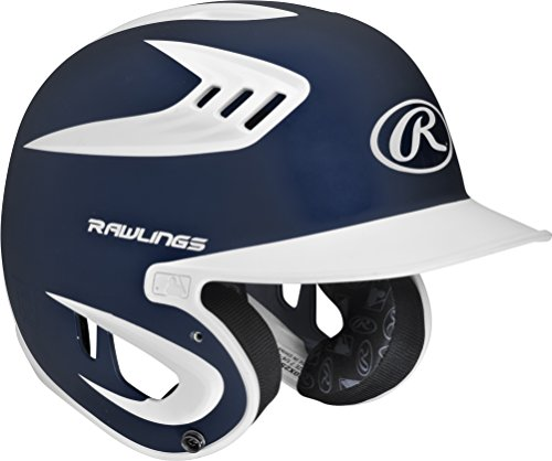 Rawlings Youth 80 Mph Coolflo Rubberized Two-Tone Matte Baseball Batting Helmet by Rawlings