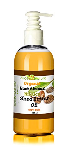 Slice of Nature USDA Certified Organic East African Shea Oil Nilotica Shea Butter Oil Pure Cold pressed - Perfect Shea Butter for Hair, Natural Shea Butter Lotion 8 (Shea Butter Oil Moisturizer)