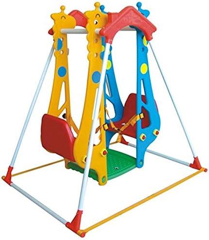 Little Champs Kids columpio para niños zona de juegos jardín con doble columpio para exterior e interior Zoo hecho de plástico: Amazon.es: Bebé