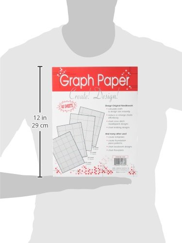 40 Per Package Crafters Helper Needlework Graph Paper 8-1//2 by 11-Inch