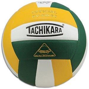 Tachikara Sensi-Tec Composite Sv-5wsc Volleyball Dark Green/White/Gold