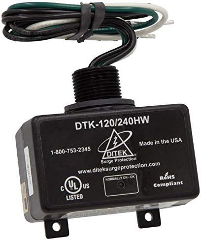DiTek DTK-120 240HW Surge Protector 120 240 Volt 72,000 Amp Peak Protection Replacement Surge Protector