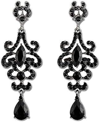 MEEOI exageración de la moda Ear Stud Earrings Ear Hoop 925 de plata esterlina para mujer, joyas de piedras preciosas vintage Pendientes de gemas vintage
