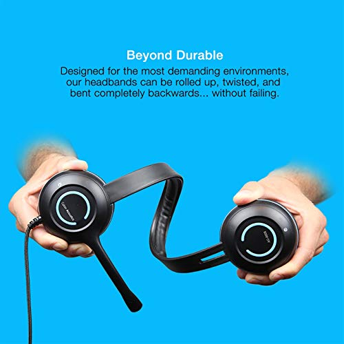 Cyber Acoustics USB Stereo Headset with Headphones and Noise Cancelling Microphone for PCs and Other