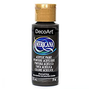 DecoArt Americana Acrylic Paint, 2-Ounce, Charcoal Grey