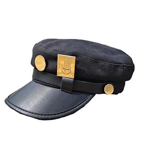 XCOSER Teens Jotaro Cosplay Visored Baseball Cap Hat Props Emblem -
