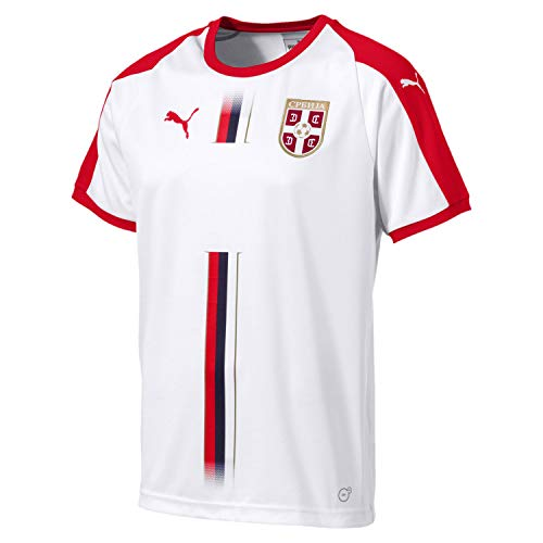 Serbia Men's Away Jersey World Cup Russia 2018 (XL) White (Serbia World Cup)