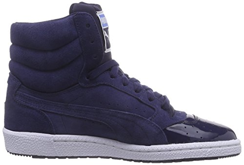 Puma Sky 3 Lace Matt & Shine Damen Sneakers Blau (peacoat-marina blue 02)