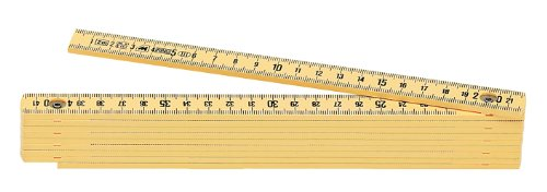 Metrica 18020 Glasfaser-Massstab 2 m, crème