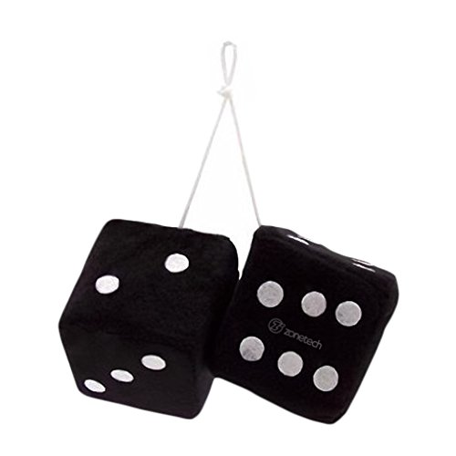 Zone Tech Black Hanging Dice- A -