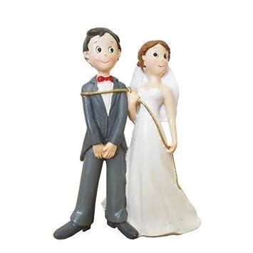 Tortenfigur 14 Cm Brautpaar An Der Leine Hochzeitstorte Tortendeko