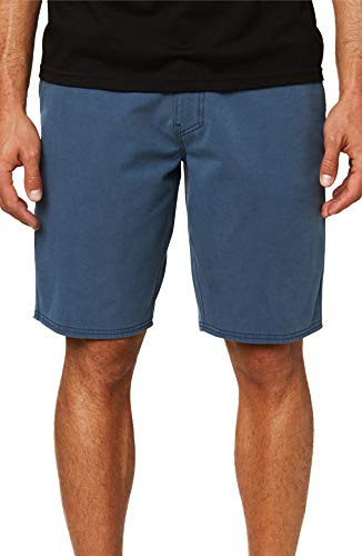 O'Neill Men's Water Resistant Hybrid Walk Short, 20 Inch Outseam (Navy/Venture Overdye, -