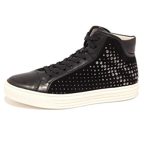 68075 sneaker HOGAN REBEL BORCHIE scarpa uomo shoes men Nero